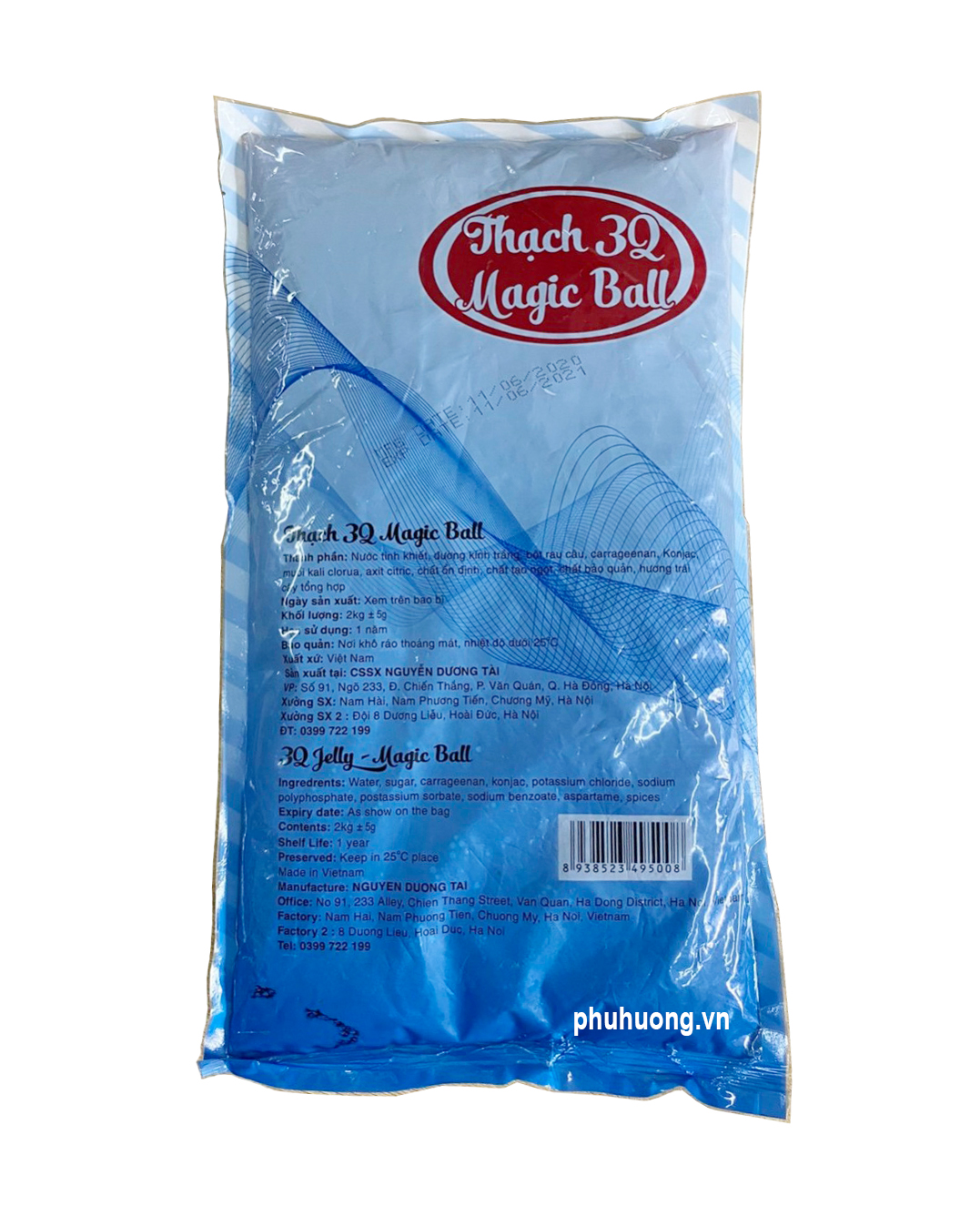 NL293 Thạch 3Q caramel Magic ball 2kg